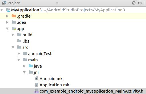Generated header file